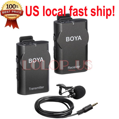 BOYA BY-WM4 Wireless Lavalier Lapel Microphone for Nikon Canon Camera Smartphone