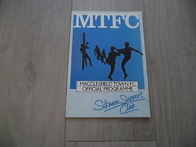 1984-85 Macclesfield v Port Vale - F.A. Cup Round One