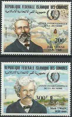 Timbres Personnages Comores 416/7 ** lot 24152