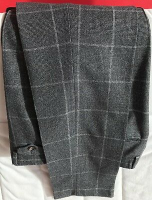 Ted Baker Mens Grey Suit Trousers 32R Used Good Condition