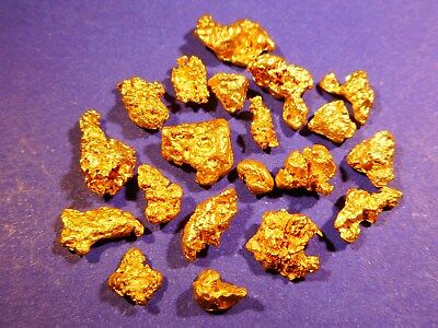 20 Sparkling Australian Gold Nuggets ( 7.57 grams ).+ FREE GIFT.