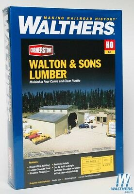 Walthers #933-3057 Walton & Sons  Lumber Yard kit + Extra- Building kit HO SCALE