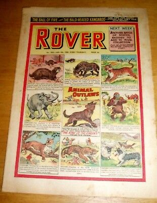 ROVER COMIC  9/1/1960 WITH  ANIMAL OUTLAWS COVER POLECAT  COUGAR JAGUAR  etc