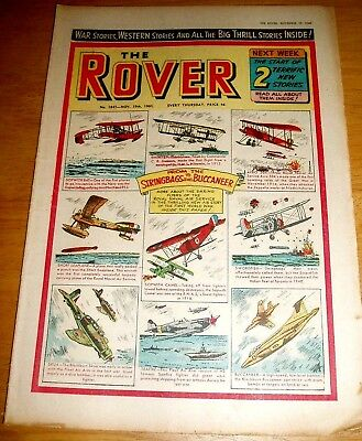 Rover Comic 19/11/1960 With  Royal Naval Air Service  Stunning Cover