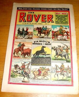 Rover Comic  13/12/1958   With Famous Horses Of The West Cover