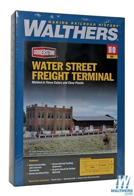 Walthers #933-3009 Water Street Freight Terminal + Extras- Building kit HO SCALE