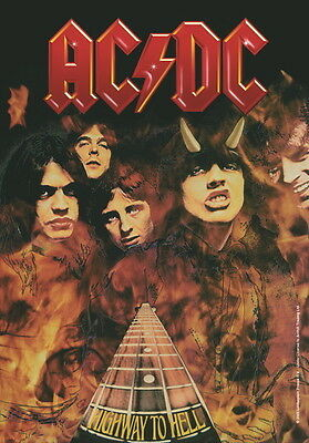 """Ac/dc Flagge / Fahne """"highway To Hell"""" Poster Flag Posterflagge"""