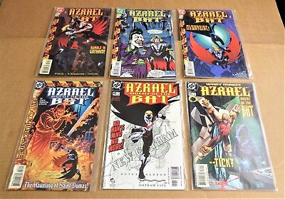 "LOT OF 6 x DC COMICS ""AZRAEL AGENT OF THE BAT COMICS""  NEW/UNREAD NM 1999/00/01"