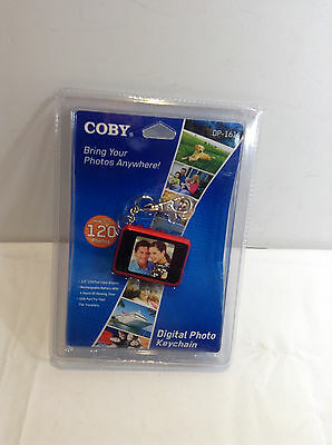 Coby DP161 Pink 1.5-inch Digital TFT LCD Photo Keychain Holds 120