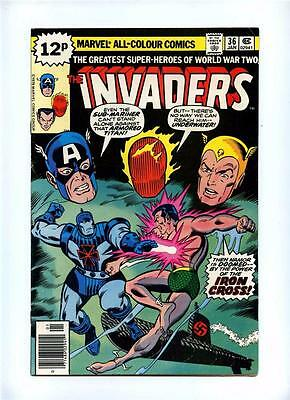 Invaders #36 - Marvel 1979 - VFN - UK Pence Variant - Iron Cross