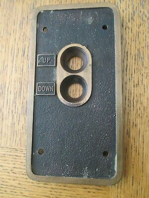 Vintage 1923 up down elevator plate brass came out of Robert e lee hotel