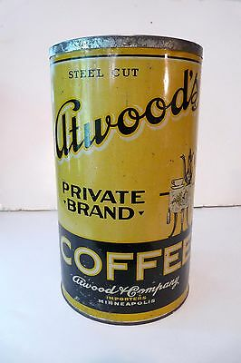 """ATWOOD PRIVATE BRAND 3# Slip Lid Tin       **LQQK at this one!"""""""""""
