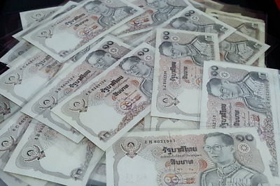 3 x The old banknotes : Thailand 10 baht. banknote King Rama 9. New Unused RARE