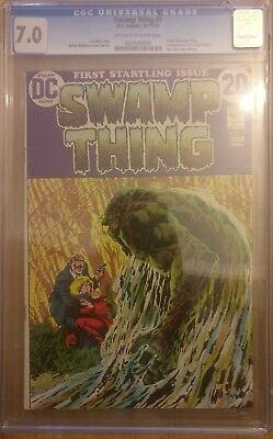 Swamp Thing #1 CGC 7.0 1st Appearance of Alec Holland, Linda Holland & Lt. Cable