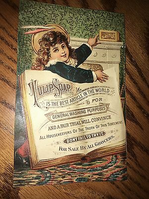 Old Vintage 1885 Victorian Advertising Ad Tulip Soap