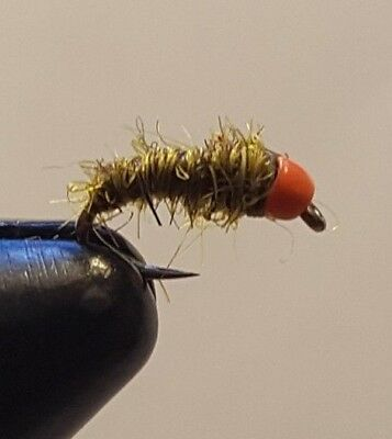 Fly Fishing Flies 12 of Justin/'s Hot Spot Sow Bug Scuds Size 16