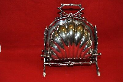 Vintage Victorian era silver plate Biscuit Box or muffin warmer English