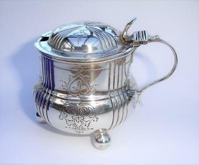 nice old sterling silver mustard pot - Sheffiled 1900 - no reserve
