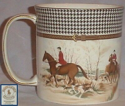 ONE Ralph Lauren BALMORAL HUNT Wedgwood FOX HUNT SCENE CUP/MUG HORSES HOUNDS/4""