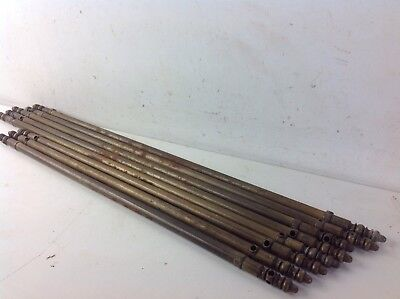 Job Lot Of Brass Stair Carpet Rods Old Reclaimed Architectural Antique