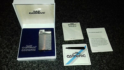 Consul Astronic Feuerzeug in OVP komplett classic Vintage Lighter in box