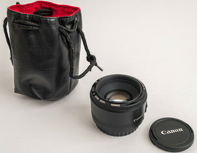 Canon EF 50mm F/1.8 II Lens with bag