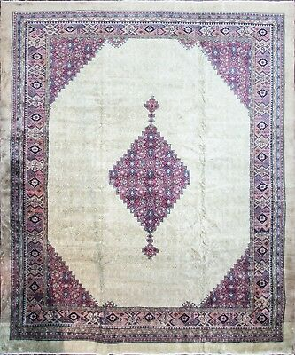 12' x 14' Spectacular Antique Turkish Handmade Serab Carpet, #16288