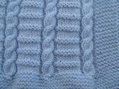 Easy to knit Cable baby blanket pattern in DK