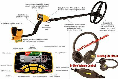Garrett Ace 350 Metal Detector With Dd Submercable Coil