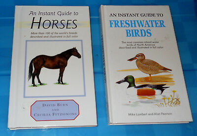 Lot of 2 - Instant Guide to:  Horses & Freshwater Birds HC small books