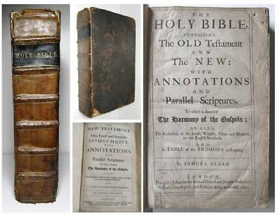 1690 THE HOLY BIBLE Large Folio Family Bible OLD & NEW TESTAMENTS London Printed