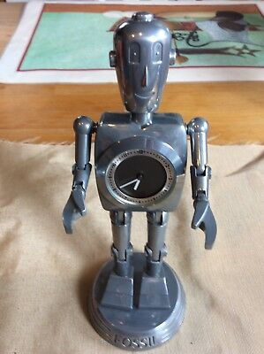 Fossil Big Tic Robot Clock With Box
