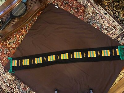Created African Kente Cloth Scarf  48 inches by 5 inches