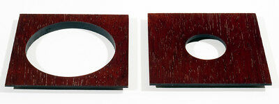 """1 LENS BOARD 4""""x4"""" for GRAPHIC VIEW I & II - 4"""" x 5"""", Plywood with Jatoba veneer"""