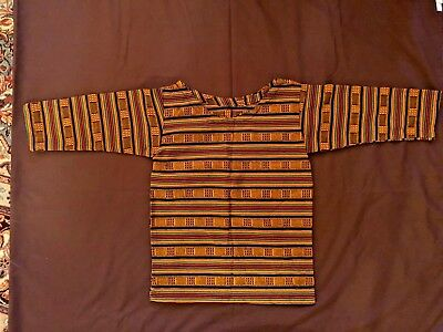 Created African Kente Cloth Material Child's Shirt   Size 4-5  long sleeves