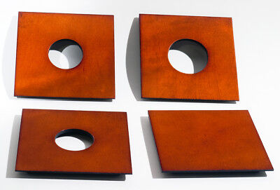 """1 LENS BOARD 4""""x 4"""" for GRAPHIC VIEW I & II - 4"""" x 5"""", Plywood with Maple veneer"""