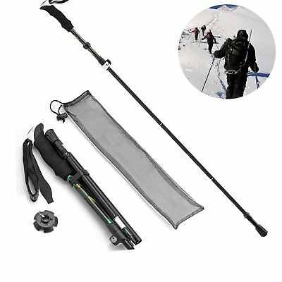 Foldable 4-section Hiking Pole EVA Foam Handle Portable Climbing Trekking Tool
