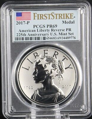 2017 P American Liberty Silver Medal Reverse Proof PCGS PR69 First Strike