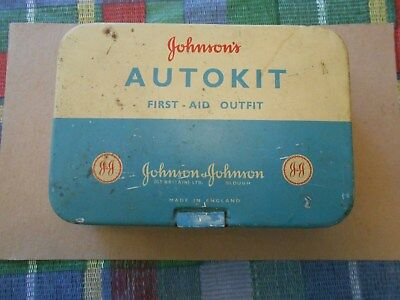 autokit first aidoutfit antique made in England Johnsons