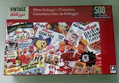 Vintage Kellogg's RETRO CEREAL CHARACTERS PUZZLE 500 Pieces New in box