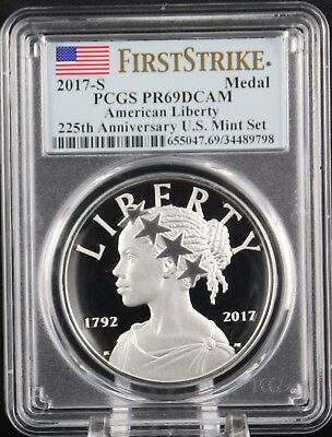2017 S American Liberty 225th Anniversary Silver Medal  PCGS PR69 First Strike