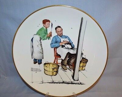 Vintage 1979 Collector's Norman Rockwell Dinner Plate Gorham Bone China