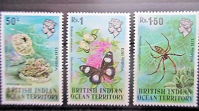 British Indian Ocean Territory 1973 Wildlife Set. MNH.