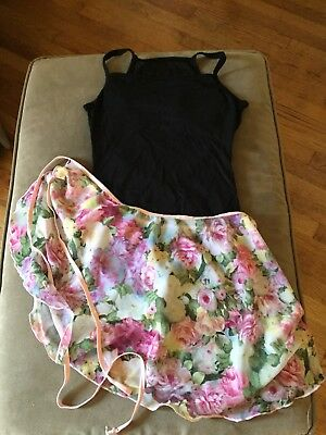 bloch leotard And Body wrappers Wrap Dance Skirt Adult Medium