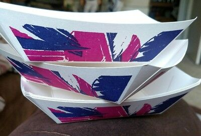 70 Disposable Paper 1 lb  Food party Trays Cardboard Plates Bowl Baskets nachos