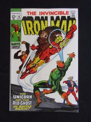 Iron Man #15 MARVEL 1969 - NEAR MINT 9.0 NM - The Red Ghost and The Unicorn!!