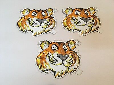 3 Vintage 1960's-70's EXXON/ESSO TIGER MOBIL OIL GAS Racing Stickers
