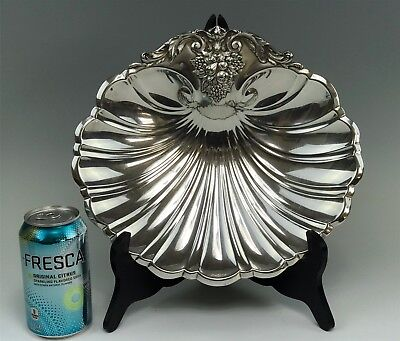 Large Reed & Barton Francis I Sterling Silver Shell Footed Platter Tray X571
