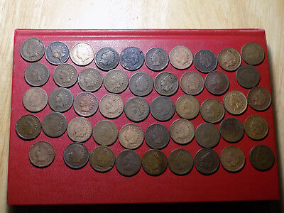 lot of 48 indian head pennys 1880s 1890s  1900s