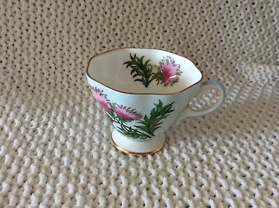 E B FOLEY BONE CHINA TEACUP THISTLE - highly collectable